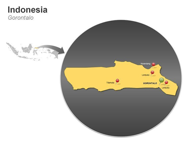 Map of Indonesia - Gorontalo