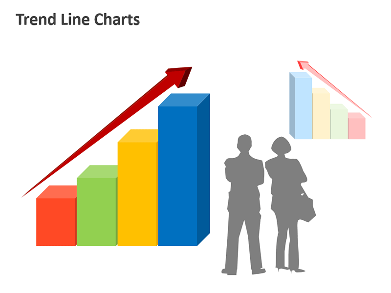 Growth Chart Linear Trend PowerPoint