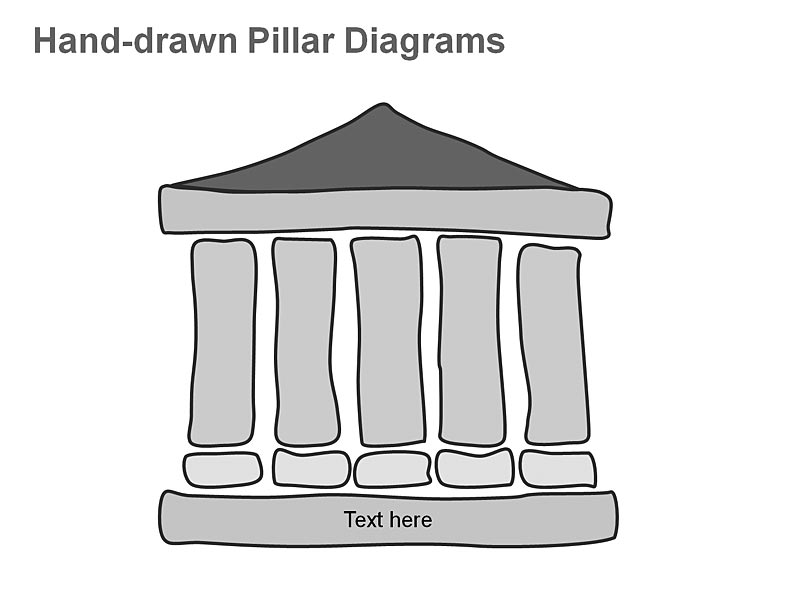 Pillar Diagrams Illustration showing Virtual Computing Structures