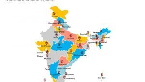 Editable PPT Map - Indian States