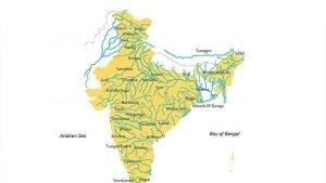 India Rivers Map - PPT Slide