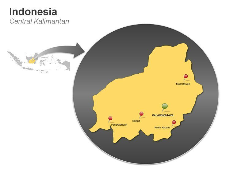 Indonesia Central Kalimantan Map