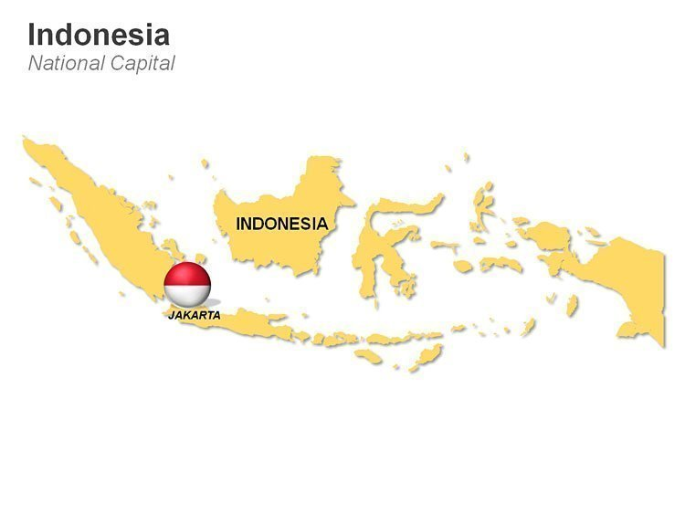 PPT Map of Indonesia Featuring Jakarta