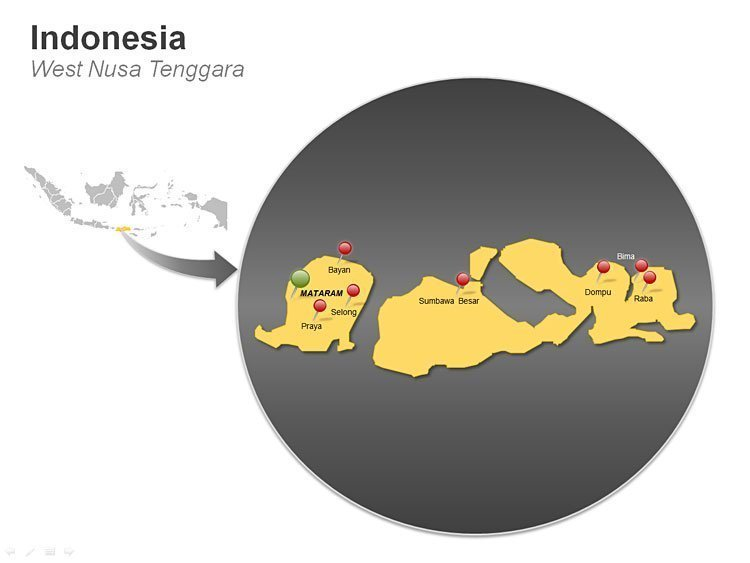 West Nusa - Indonesia Tenggara Map