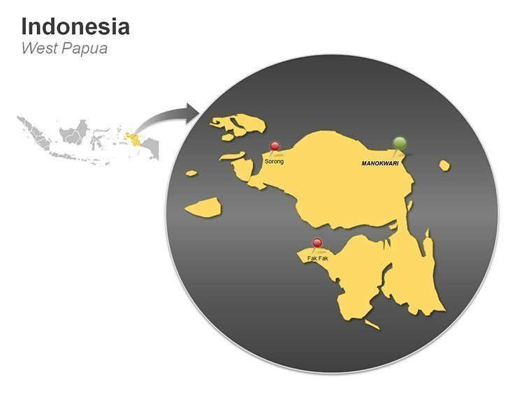 West Papua - Indonesia PPT Map