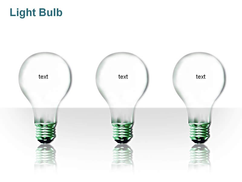 Lightbulb Image - Business PowerPoint Templates Presentation