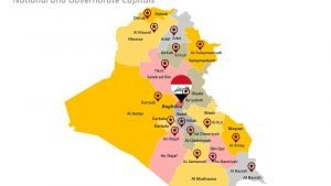 National and Governorate Capitals of Iraq PPT Map