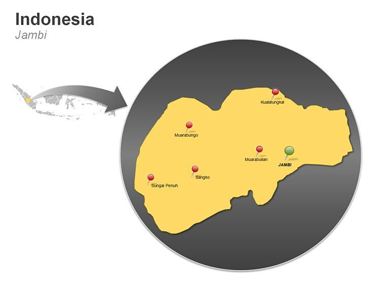 PPT Map of Indonesia - Jambi