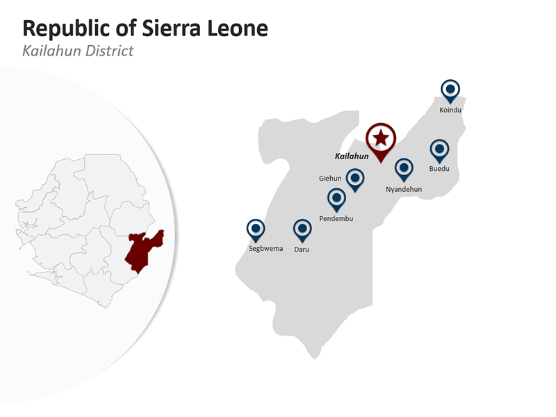 Editable PPT Map - Kailahun District - Republic of Sierra Leone