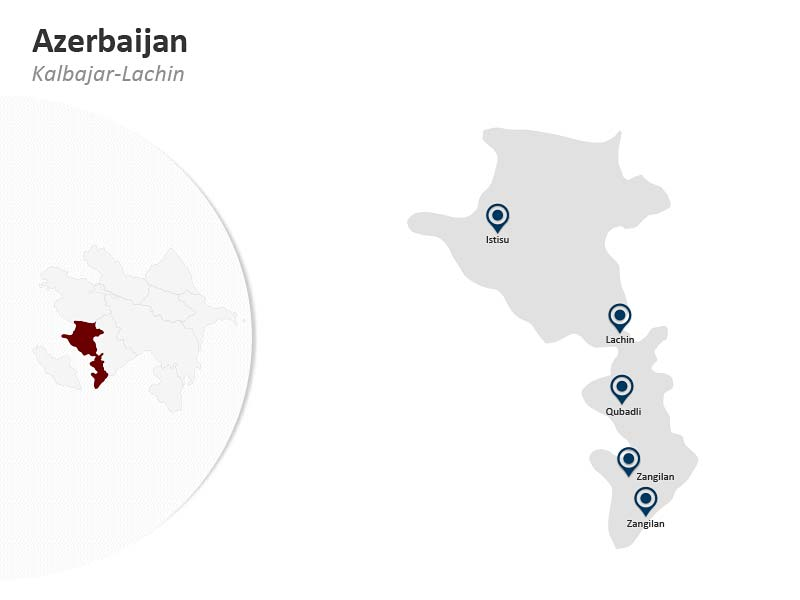 PPT Map of Azerbaijan - Kalbajar Lachin