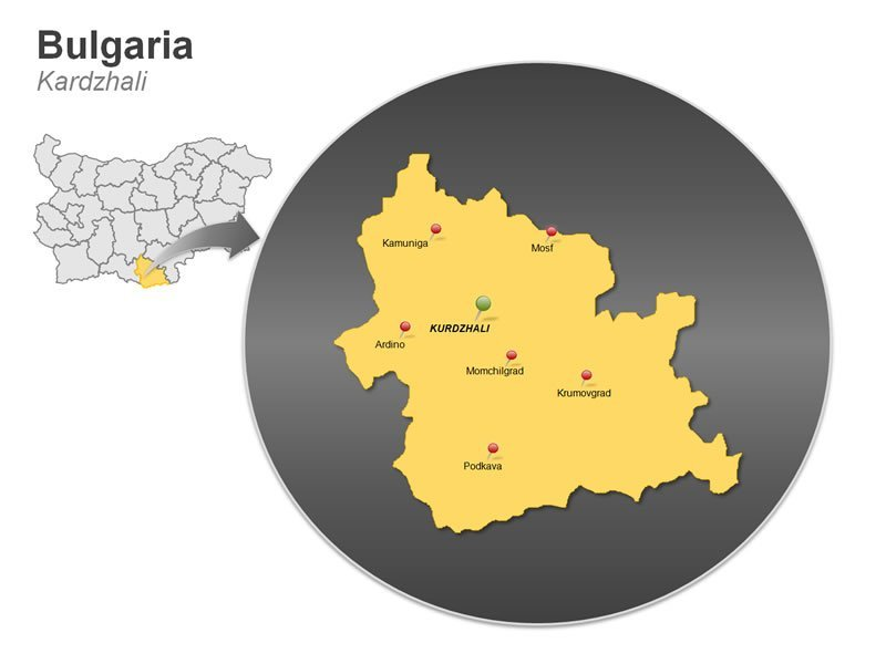 PPT Map of Bulgaria - Kardzhali