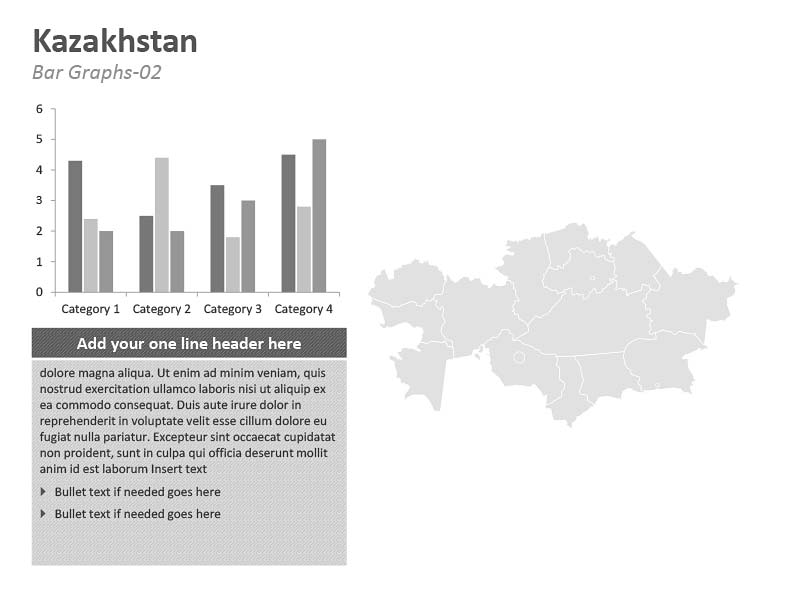 Kazakhstan Graph PPT Map