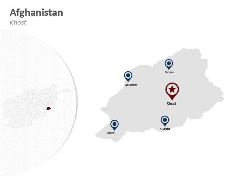Khost Afghanistan PPT Map