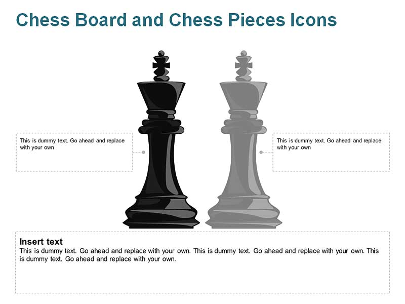 King Chess Icons PowerPoint