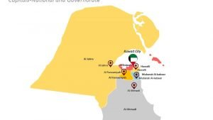 PPT Slide on Governorate Map of Kuwait