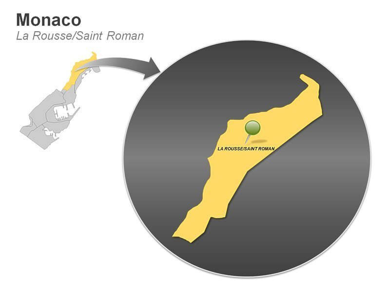 La Rousse Monaco Map PowerPoint