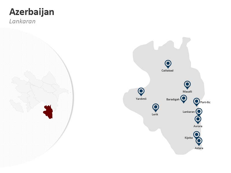 PPT Map of Azerbaijan - Lankaran