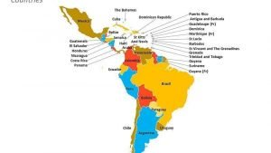 Editable PPT Slide of Political Map of Latin America showing its Countries