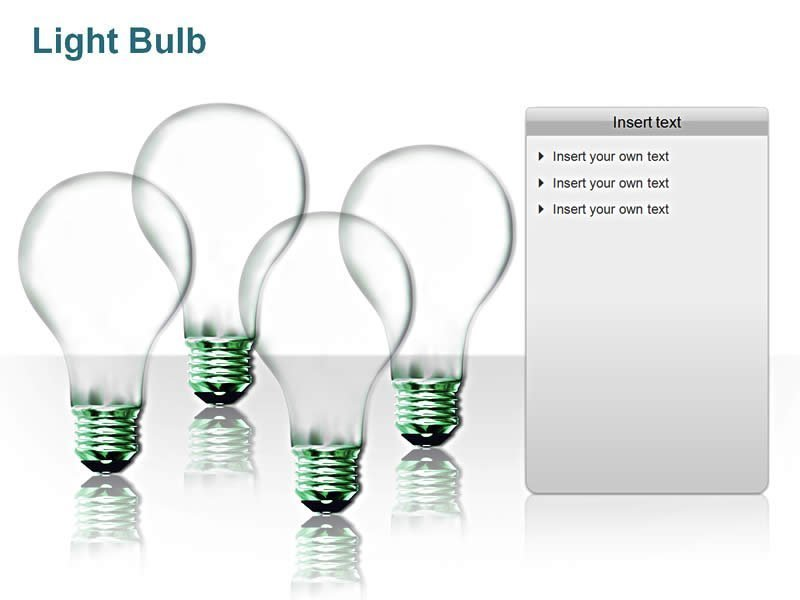 Lighbulb pictures for PPT Presentation