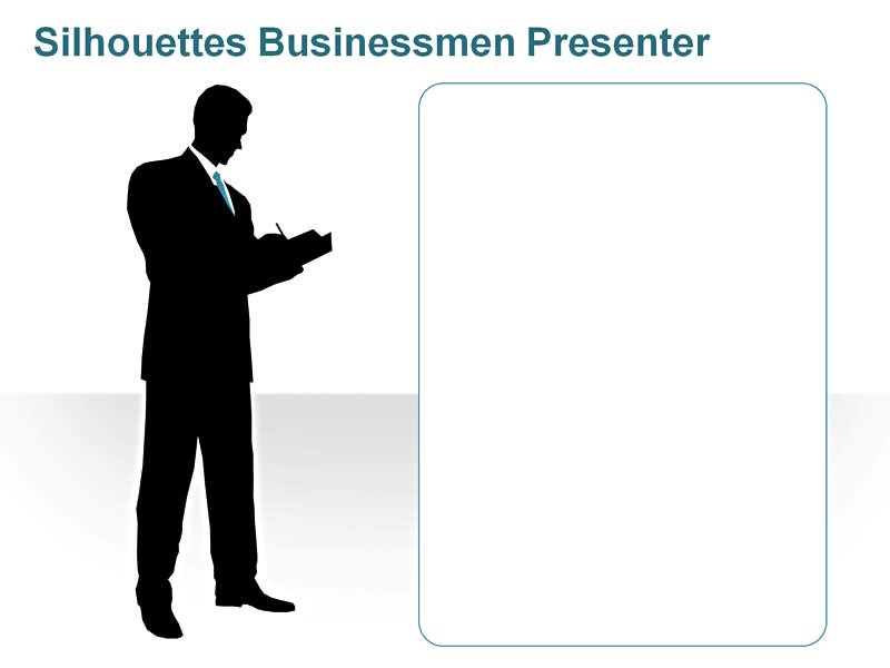 Editable PPT of Silhouettes - Business Executive showing Goals and Targets