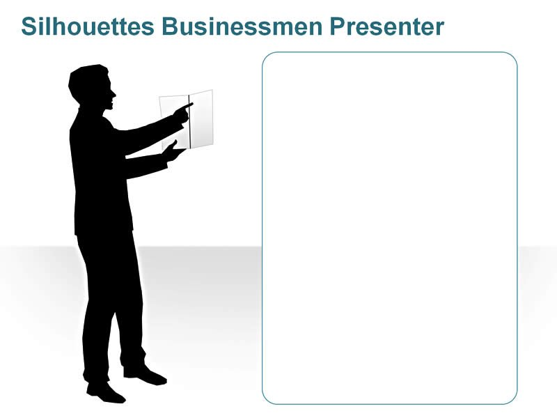 PPT Illustration of Silhouettes Male Presenter