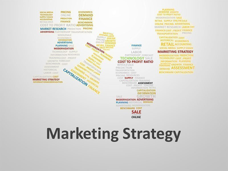 Marketing Strategy Word Cloud - Editable PowerPoint Presentation