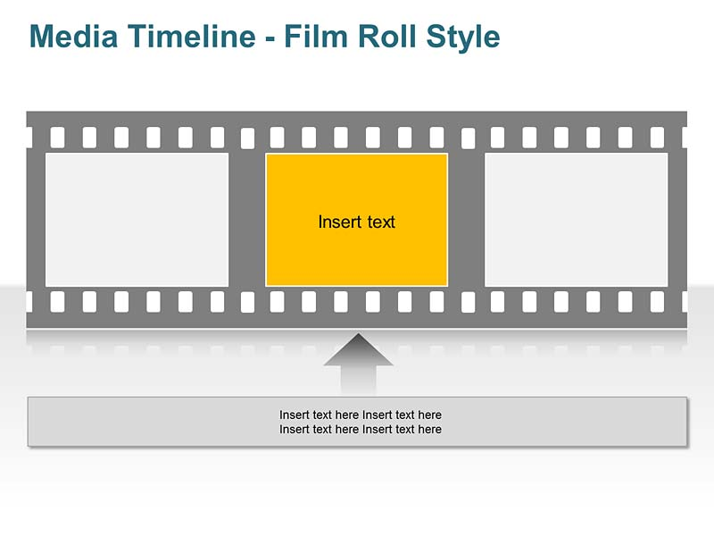 Business Timeline - Media Style PowerPoint Template