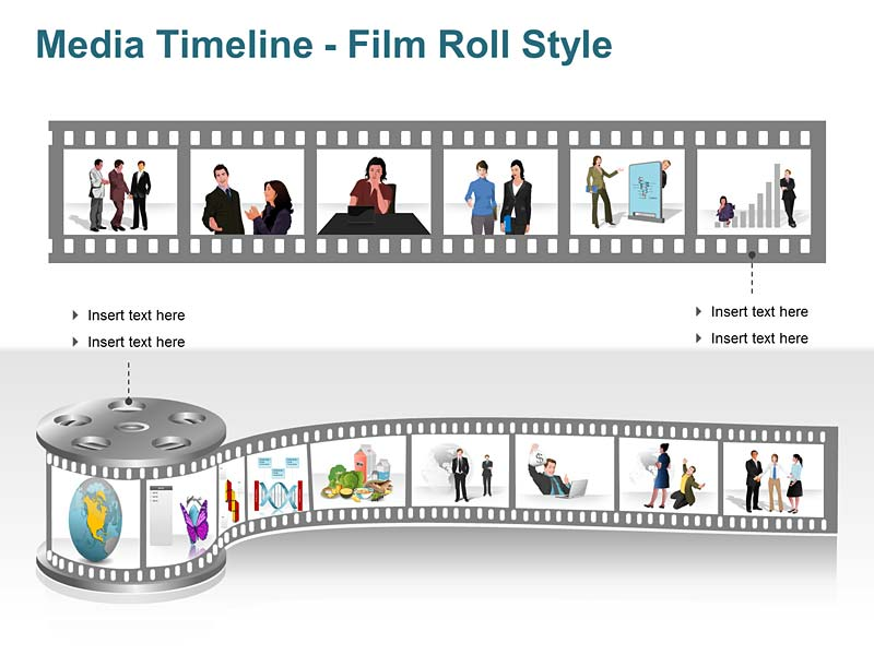 Timeline Film Roll PowerPoint Template