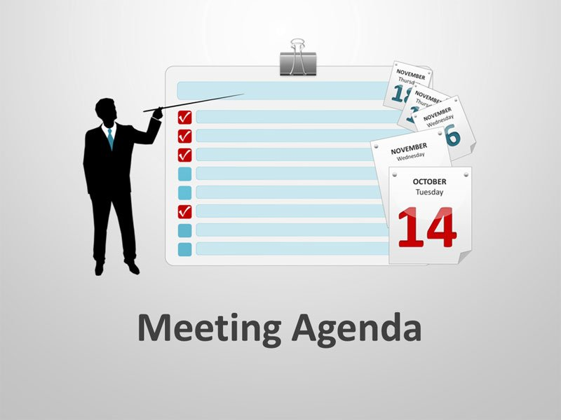 Agenda Slides for PPT