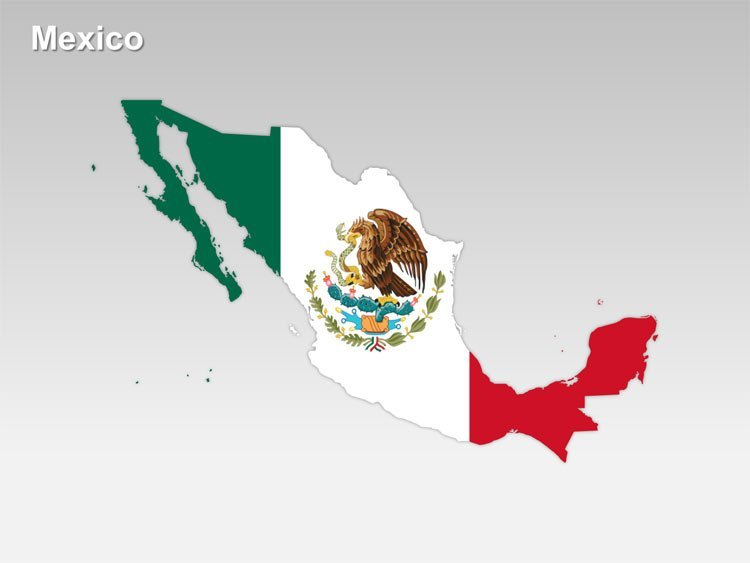 National Flag Map of Mexico PPT