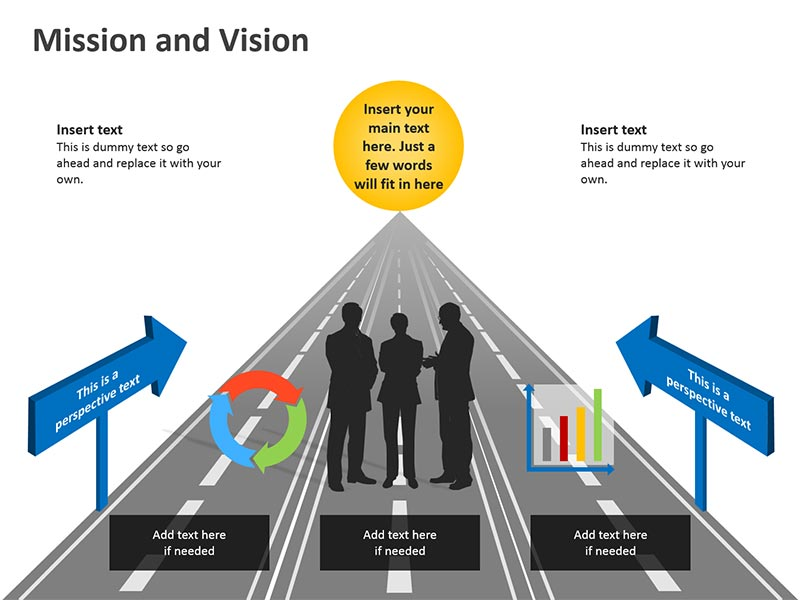 Business Vision - Editable PowerPoint Graphic