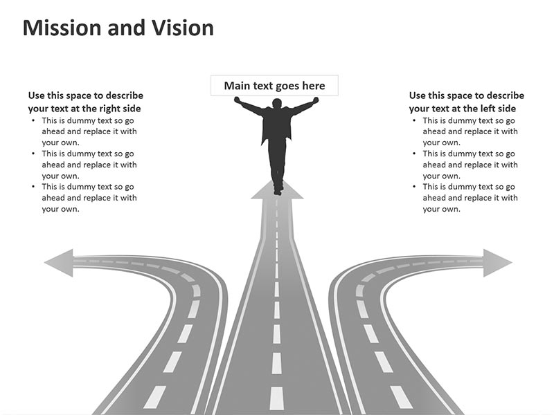 Mission, Vision and Values - Editable Vector Graphics