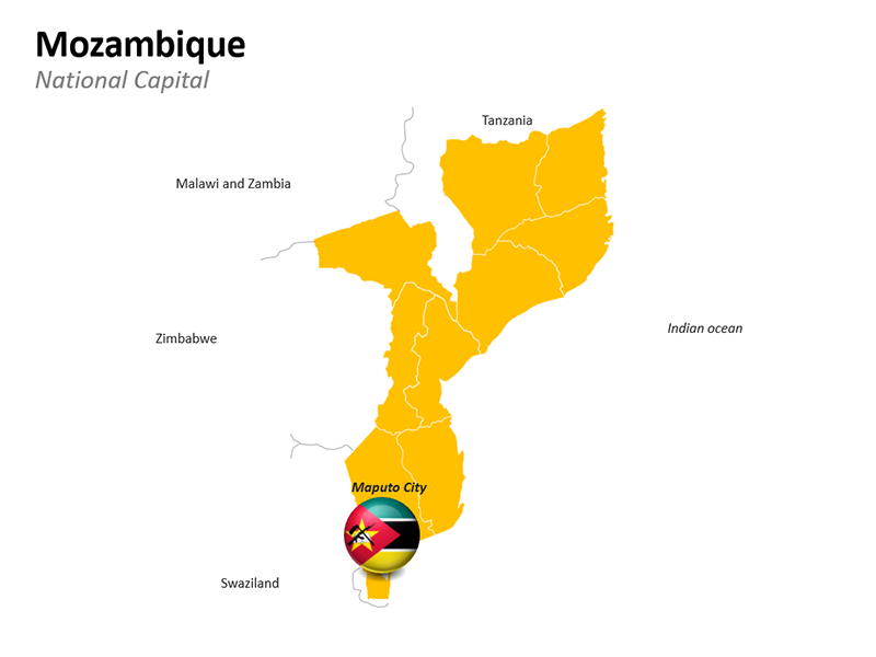 Maputo City National Capital of Mozambique - Editable PowerPoint Slide