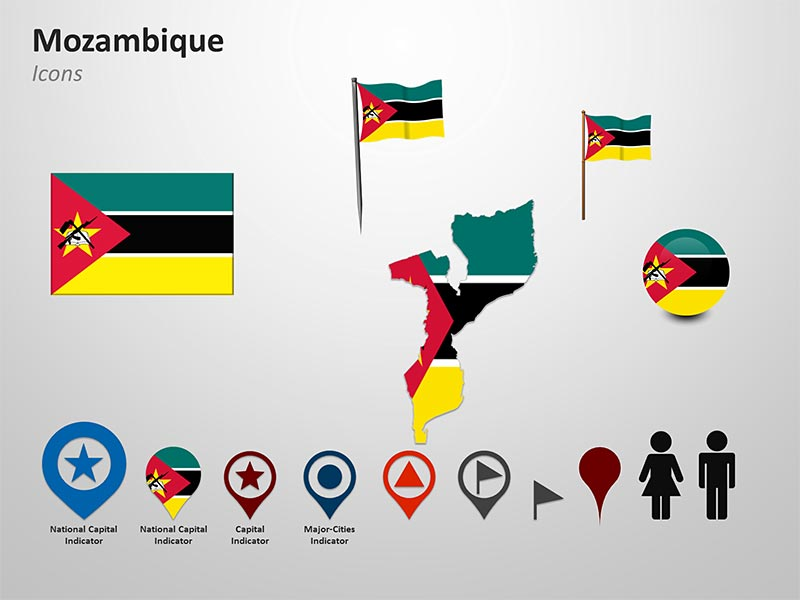 custom map of mozambique