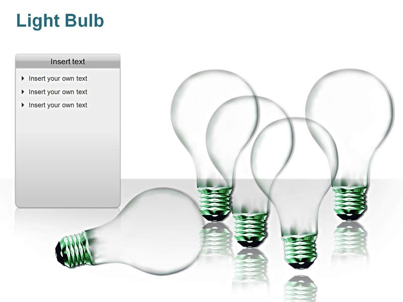 Lightbulb Image - Editable PowerPoint Illustrations