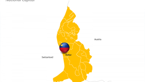 Liechtenstein - PPT Map - Country Outline