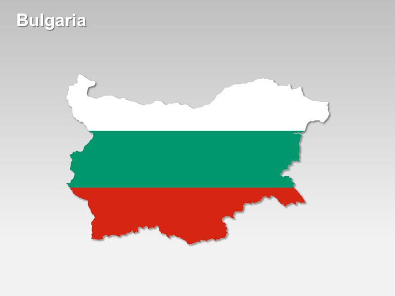 PowerPoint Flag Map of Bulgaria