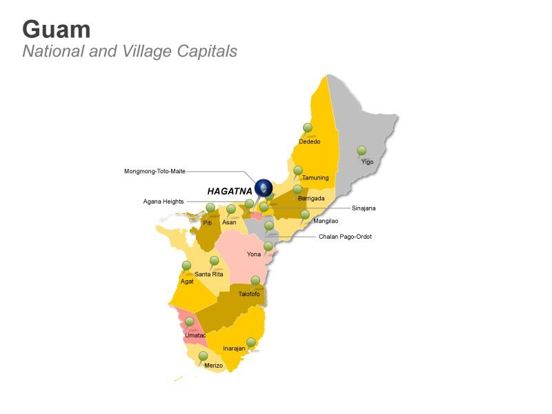 Guam Village Capitals- PPT Map