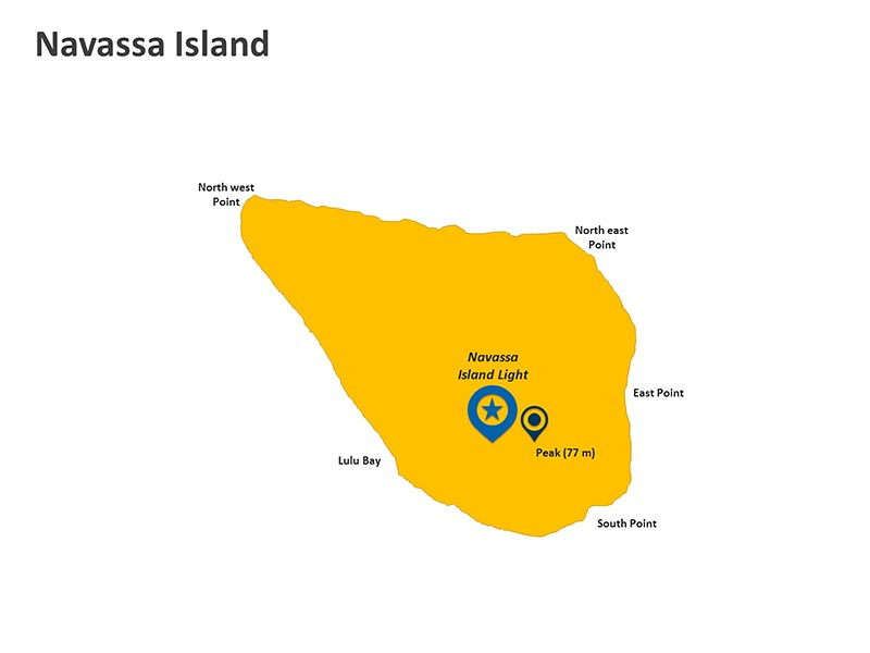 Navassa Island Map - Customizable PPT Slide