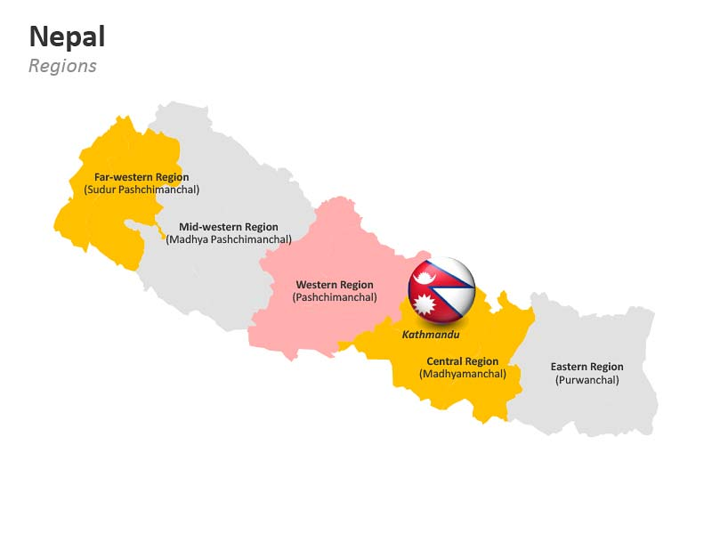 PPT Map of Nepal - Regions