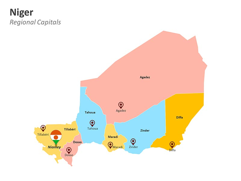 National Capital Niamey PPT Map
