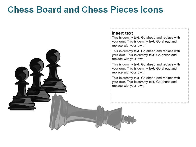 Pawn and King Chess Pieces of PowerPoint
