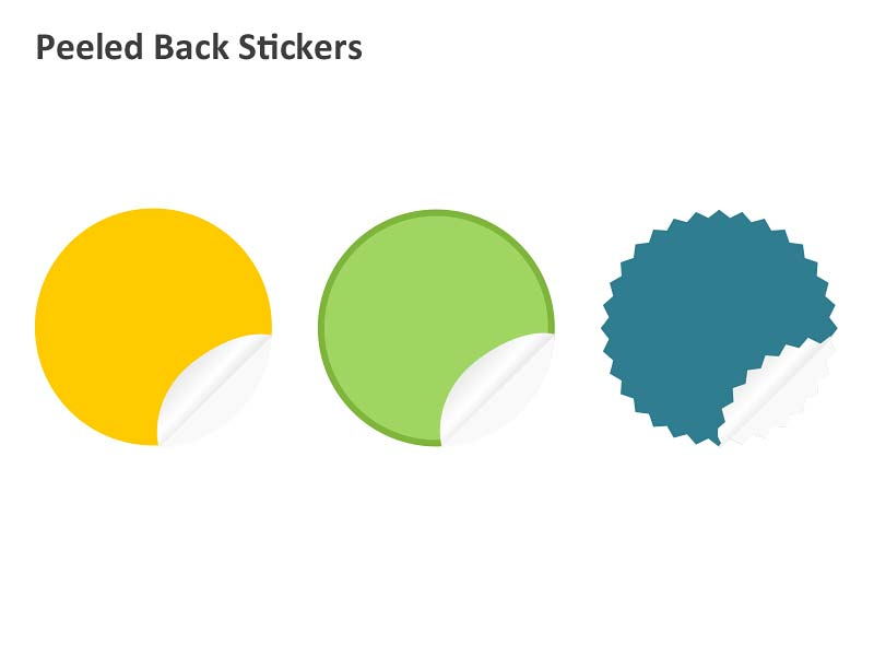 Peeled Back Stickers - PowerPoint Slide