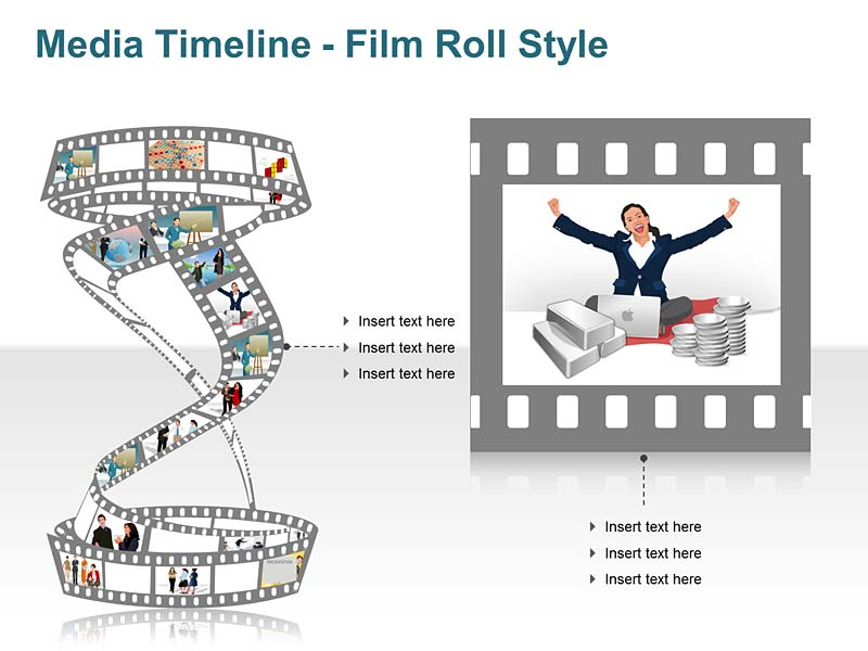 Pictorial Timeline PowerPoint Illustration