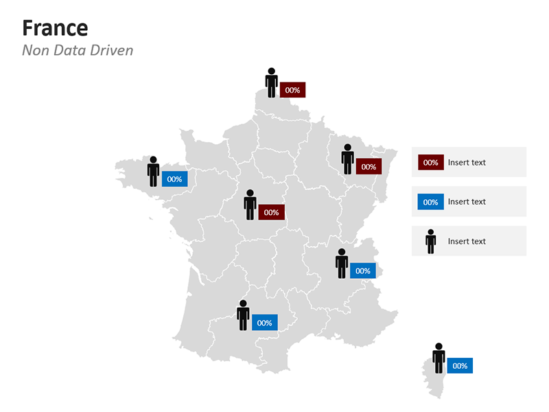 Demographic PPT Map of France