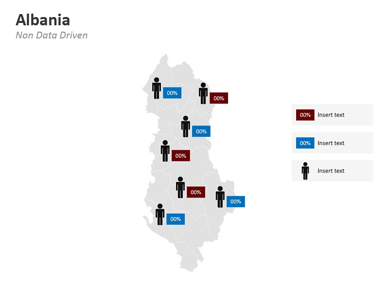 PowerPoint Map of Albania
