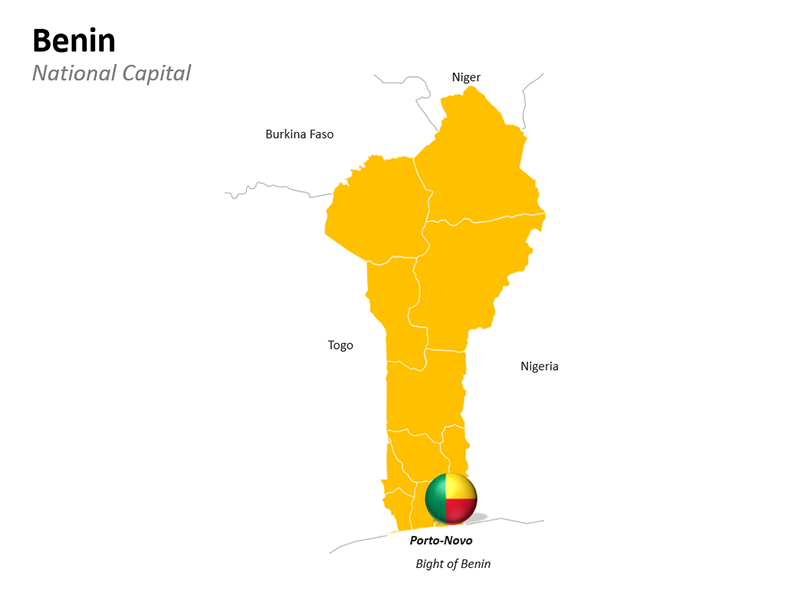 Benin Map - Editable PowerPoint Slide