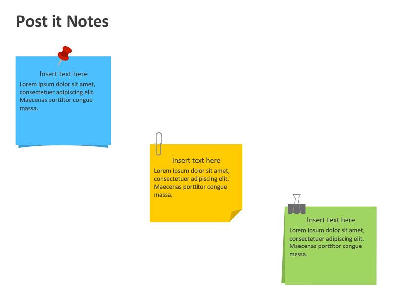 Post it Notes Design Element - PowerPoint Slides