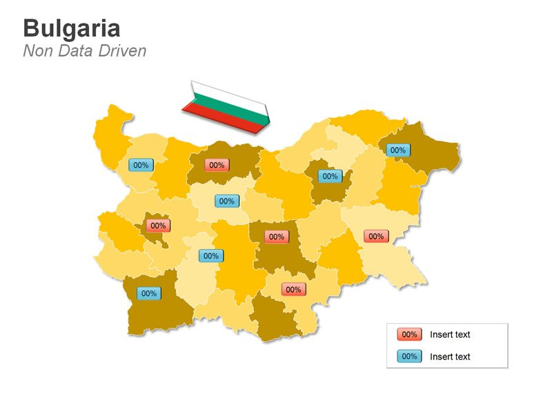 Demographic Data Map of Bulgaria PPT