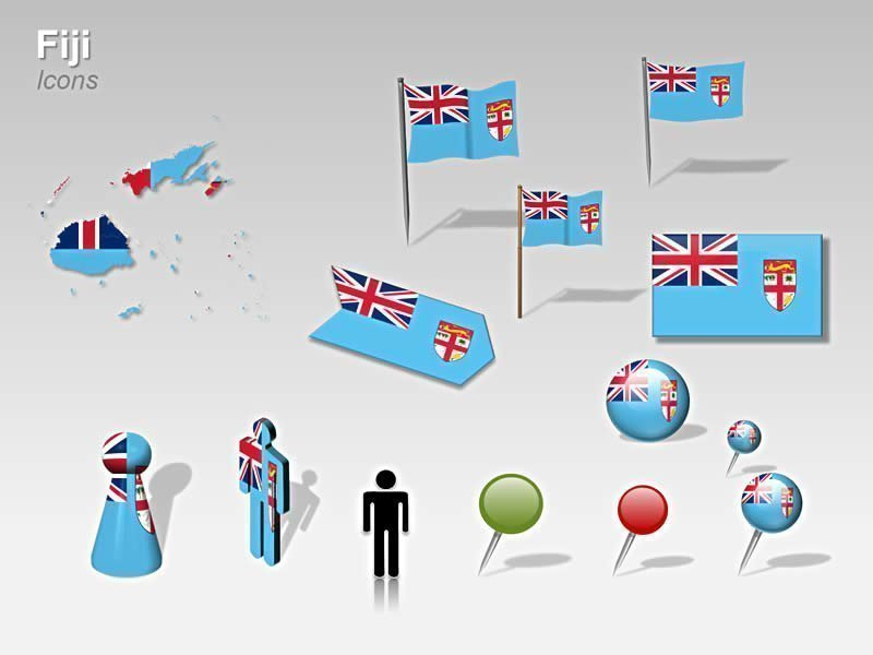 Map of Fiji PowerPoint - Cliparts